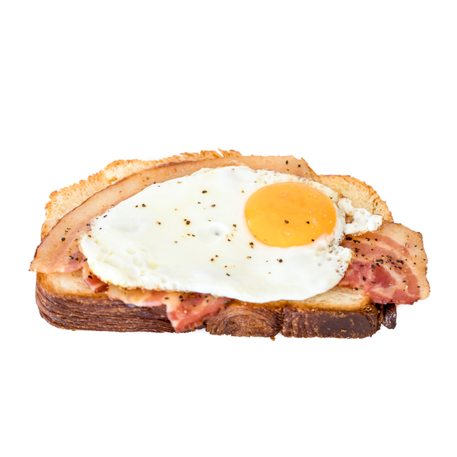 Bacon & Egg Danish Toast