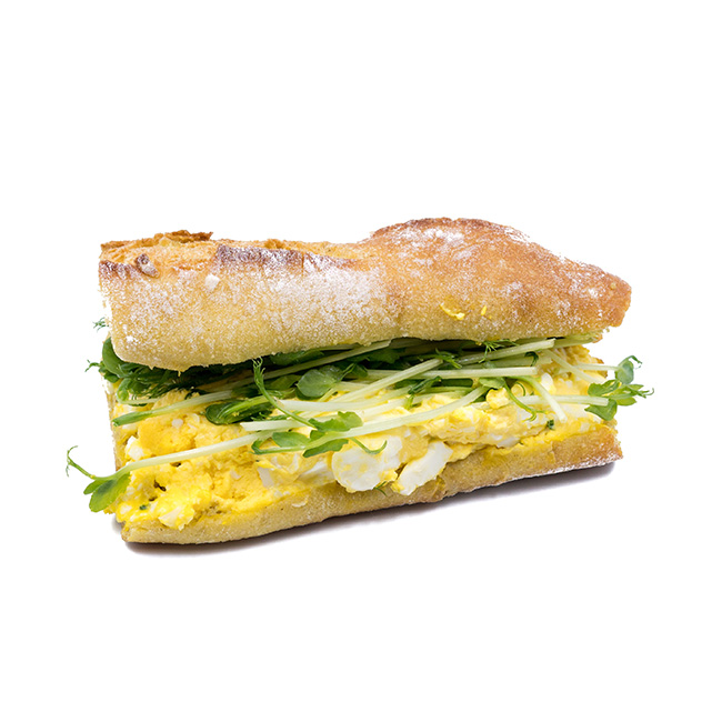Creamy Egg Curry Baguette